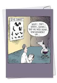 Dog Eye Chart Cartoons Birthday Card Dave Coverly