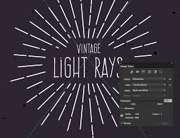 How To Create Vintage Vector Light Rays In Illustrator Medialoot