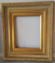 details about andré handmade wood picture frame scoop ribbed antique gold w gold liner 8x 10