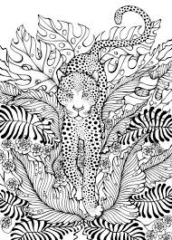 Leopard Coloring Page Coloring Pages To Print Animals Animal