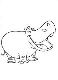 Small Picture Cute Cartoon Hippo Coloring PagesCartoonPrintable Coloring Pages