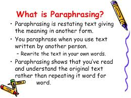 how to paraphrase in an essay co how to paraphrase in an essay summarizing and paraphrasing how to paraphrase in an essay