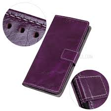 crazy horse leather wallet case for samsung galaxy a10 purple 6