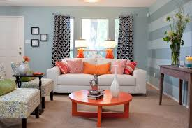 charming eclectic living room ideas. Decor Ideas Beautiful Blue Wall Paint Color Living Room Accent Striped White Charming Eclectic I