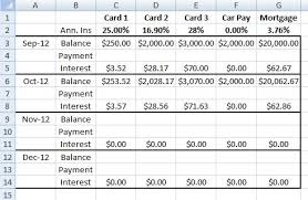 Credit Card Debt Excel Template Living Neurotically Paying Off Debt Will Take Forever Or