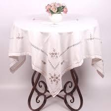 white cotton tablecloth rectangle tablecloths rectangular 60 x 120