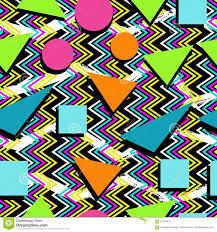 Retro 80s Seamless Pattern Background Stock Vector Illustration Of
