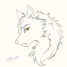 white wolf drawing anime.  White Drawing Anime Wolves Wolf  Face How To Draw Intended White