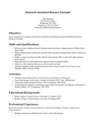 sample resume for undergraduate research assistant cipanewsletter cover letter research assistant sample resume clinical research
