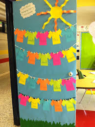 Classroom door decorations with hanging decorations for classroom