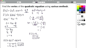 how to find vertex on ti 84 math in this tutorial we learn how to find the vertex of a quadratic equation parabola using various methods those methods