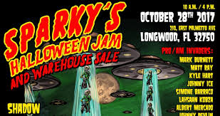 halloween sale flyer sparky s halloween jam and warehouse sale flyer