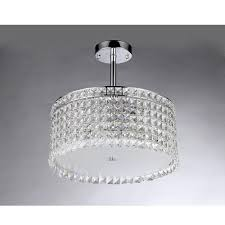 warehouse of tiffany garcia crystal 4 light chrome chandelier with shade