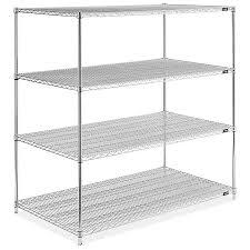 chrome wire shelving unit 60 x 36 x 63 h 2950 63 uline