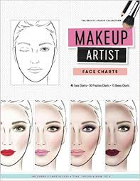 makeup artist face charts the beauty studio collection amazon co uk gina m reyna 9781522744504 books