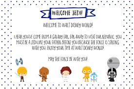 free printable note from star wars for disney world vacation wit wander