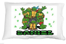 Image is loading Ninja-Turtles-personalized-standard-queen-pillowcase