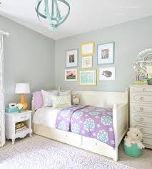 Pretty Grey And Purple Girls Room With Yellow And Teal Accents
