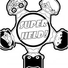 Kleurplaat Superhelden
