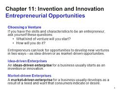 1 Chapter 11 Invention And Innovation Entrepreneurial