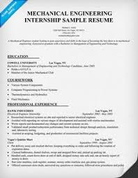 senior mechanical engineer resume samples - Engineering Internship Resume
