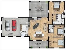 Charming Bedroom Open Floor House Plans For Creative Decoration 40 Amazing 3 Bedroom Open Floor House Plans Creative Design