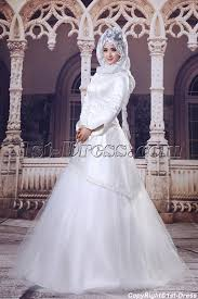 ivory 3 4 long sleeves islamic wedding dresses 1st dress com