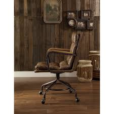 office chair vintage. Shop ACME Harith Executive Office Chair, Vintage Whiskey Top Grain Leather - Free Shipping Today Overstock.com 19398754 Chair
