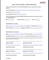 how to make bill of sale 5 trailer bill of sale templates free sample templates