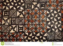 Samoan Siapo Designs Pacific Islands Tapa Cloth Geometric Designs Stock Image