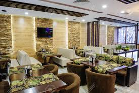 sustainable restaurant furniture. Modern Restaurant Interior With Tables And Sofas Stock Photo - 27866583 Sustainable Furniture T