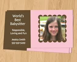printable babysitting business cards images printable babysitting business cards