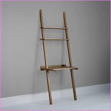inspirational ladder desk leaning brown wooden ladder shelf puter desk on grey wall and rjj