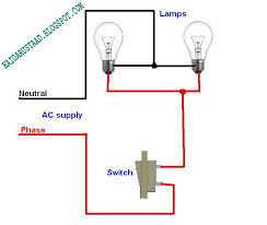 how to control 2 lamps bulbs by one way switch parallel circuit controlling 2 lamps bulbs by one way switch parallel circuit