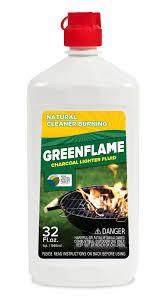 the consumer bottle of greenflame lighter fluid