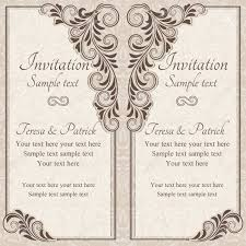 Baroque Wedding Invitations Antique Baroque Wedding Invitation Brown On Beige Background