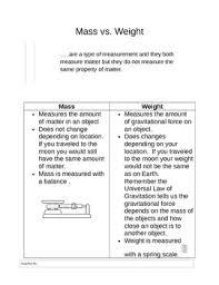 Venn Diagram Mass And Weight Mass Vs Weight Worksheet By Jerri Birkofer Teachers Pay Teachers