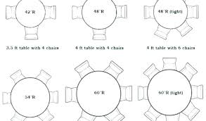 8 foot table seats 6 round how many tables that seat 60 oval
