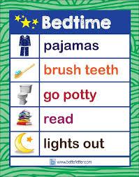 A Favorite Visual Bedtime List Bedtime Chart Preschool