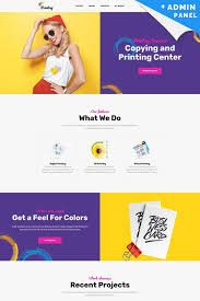 Print Web Design Printing Company Landing Page Template Page Template