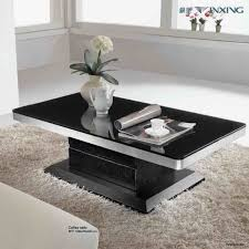 Elegant Black Coffee Table Sets For Living Room Modern Dark