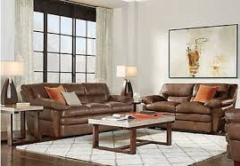 complete living room sets. aventino tobacco leather 2 pc living room complete sets