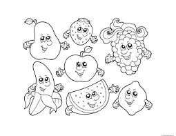 Cartoon Fruits Coloring Page For Kids Fruits Pages New Fruit