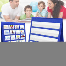 How To Make A Pocket Chart Stand Details About Desktop Pocket Chart Teaching Double Sided Stand Foladble Classroom Teach Charts