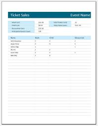 Ticket Sales Spreadsheet Template Ticket Sales Tracker Template For Ms Excel Word Excel