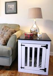 coffee table dog crate wooden dog crate end