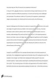 english standard area of study discovery essay life of pi year life of pi essay on complexity