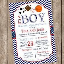 All Star Sports Baby Shower Invitation Football SoccerBaby Shower Invitations Sports Theme
