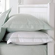 spring green gingham pillowcases