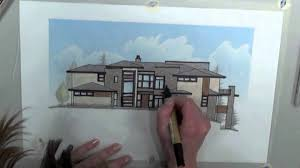 modern architectural sketches. Colorado Modern Residential Architectural Style Sketch By Godden|Sudik Architects - YouTube Sketches S